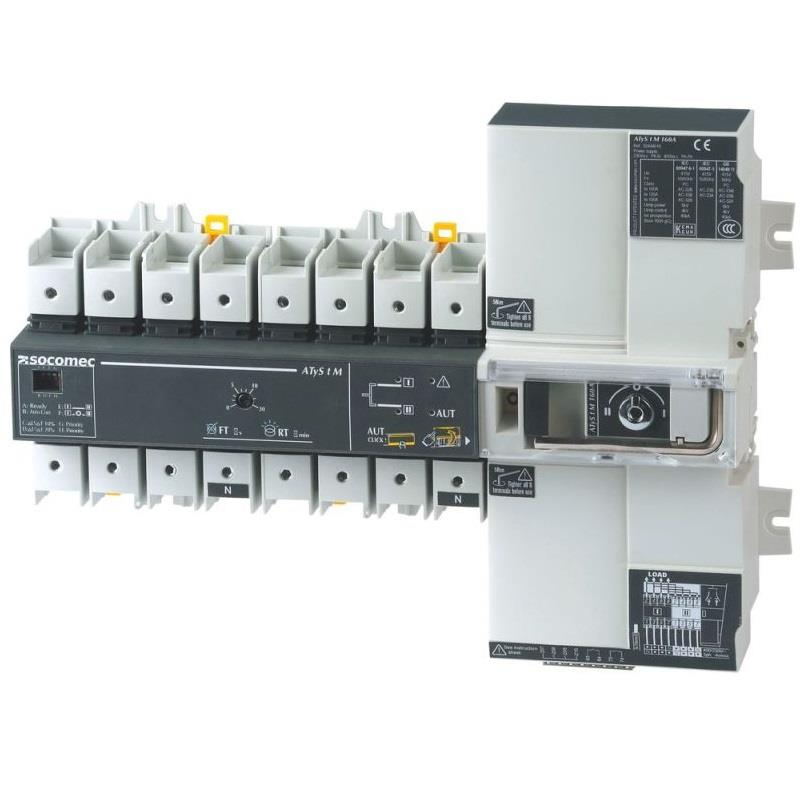 Socomec ATyS t M from 40 to 160 A- Automatic Transfer Switches(ATSE)